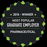 2016 Winner Most Popular Graduate Employer Pharmaceutical Logo