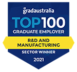 Grad Australia r and d sector winner badge