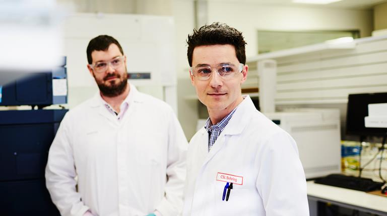 Two scientists in a lab