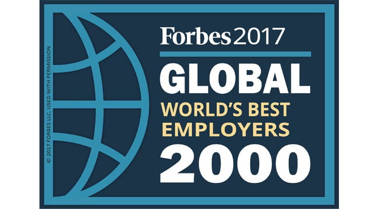 Forbes Global World's Best Employers Logo