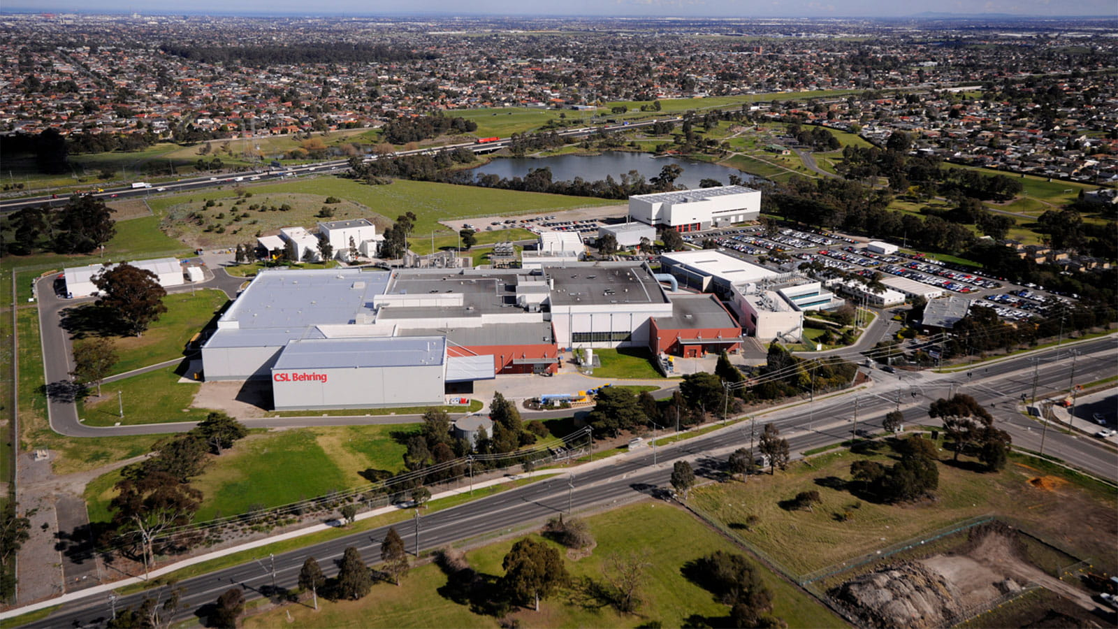 Aerial view of CSL Berhing Australia Broadmeadows site